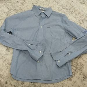 Abercrombie & Fitch blue muscle button up shirt